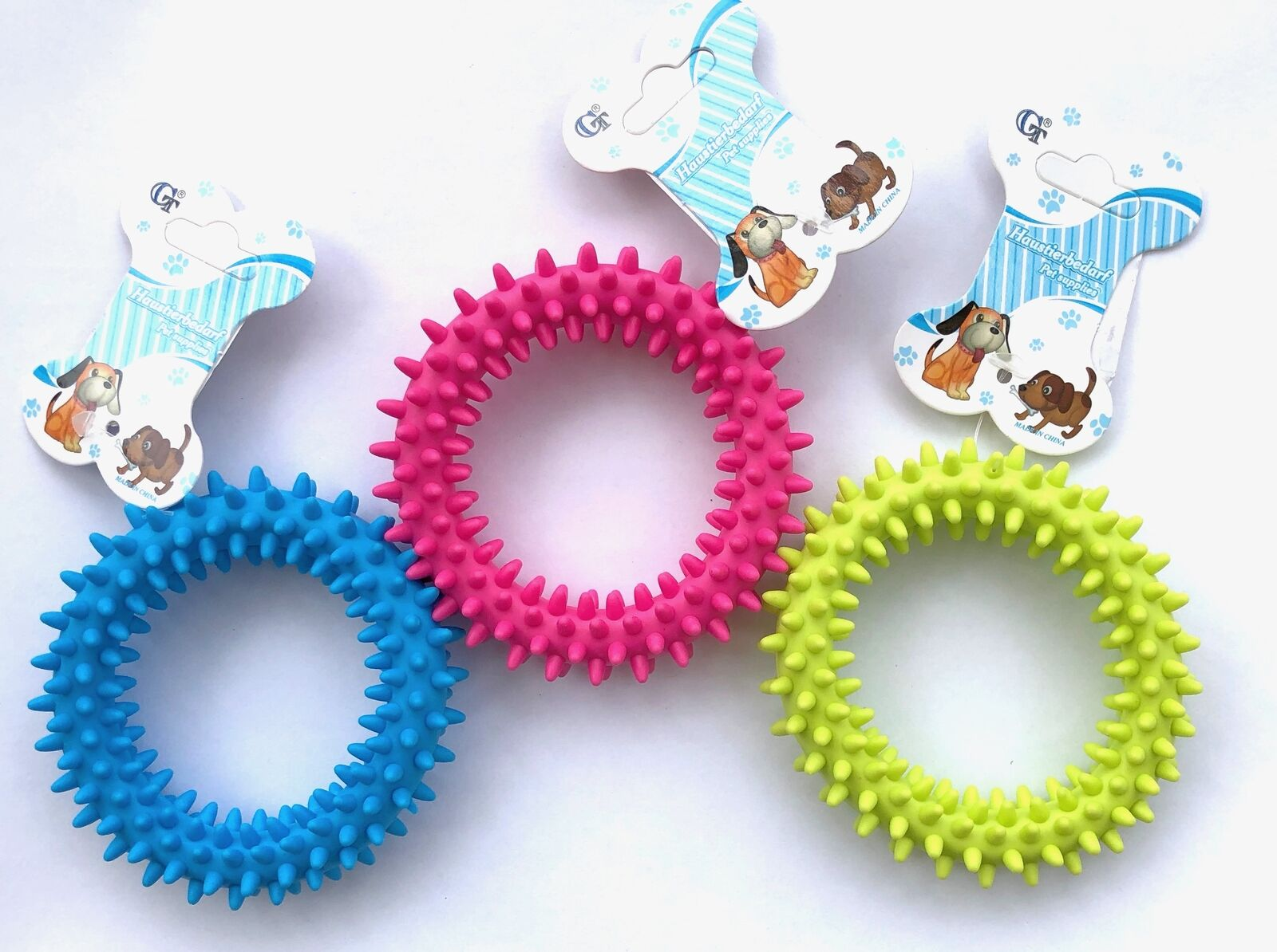 Beissring Hundespielzeug ca. ø9cm Spielzeug für Hund und Katze