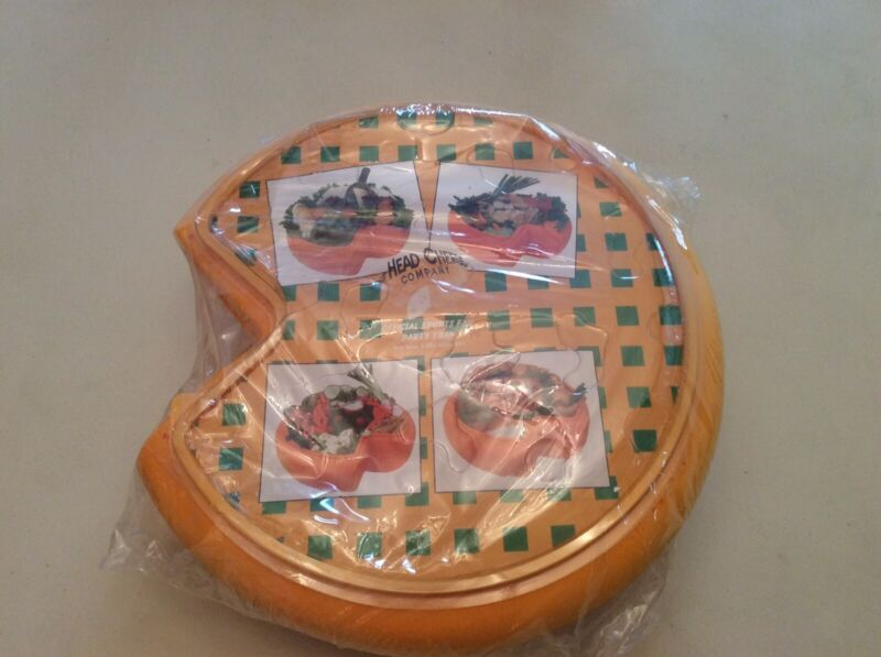 The Head Cheese Co. Official Sports Fan Cheesehead Tray! Green Bay Packer Fans!