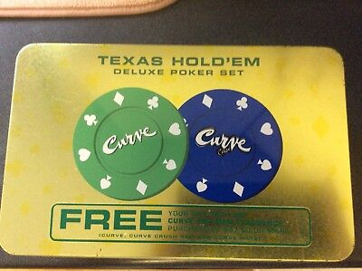 ~Curve Texas Hold'em Deluxe Poker Set~ Casino Style Poker Chips~Never - Casino Style
