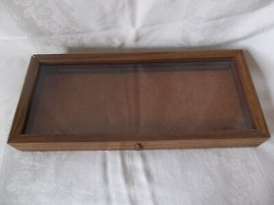 Oak Wood Display Case 20 X 8 34 X 2 14 Arrowheads Knives Collectibles Coins