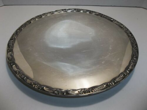 """Vintage Rogers & Bro Silver Plated TRAY Cake Plate 11"""" EXQUISITE"""