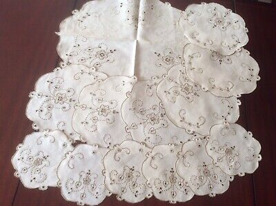 13 piece Embroiderd Linen Desert set (B6)