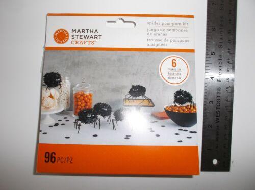 Martha Stewart Crafts Spider Pom-Pom Kit Halloween Makes 6 Spiders NEW