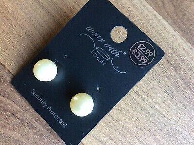 Pearl Earrings Studs Classic Retro Vintage Design Perfect Gift Idea