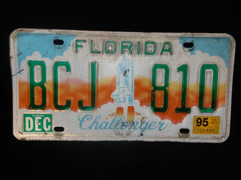 1995 Florida Challenger License Plate