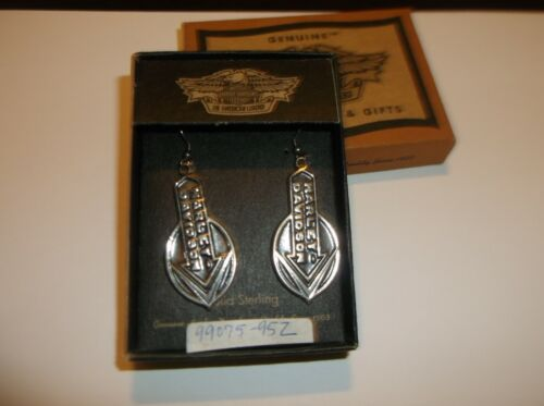 Harley-Davidson Sterling Silver Vintage 1995 Earrings 99075-95Z  dangle