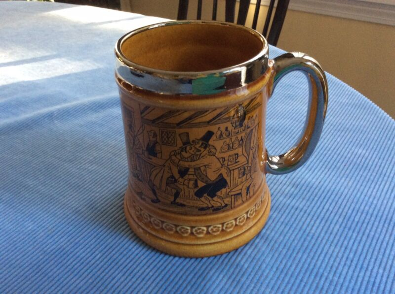 Vintage Lord Nelson Amber Tankard, Staffordshire, England