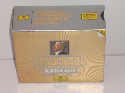 415 066-2 Beethoven 9 Symphonies Overtures Berlin Philharmonic Von Karajan 6CD