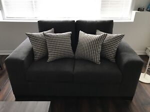 Four New Grey + White Couch Pillows