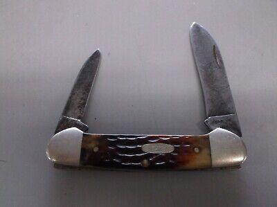 Vintage Case xx 4 dot 62131 bone handle canoe knife