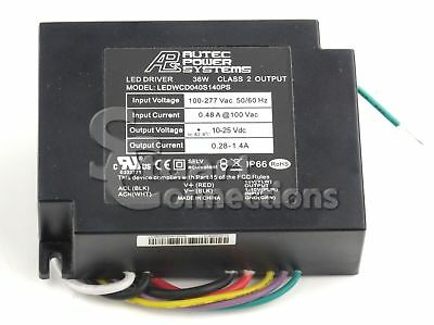 Autec Power Systems 40w Constant Current Dimmable Led Driver Ledwcd040s140ps