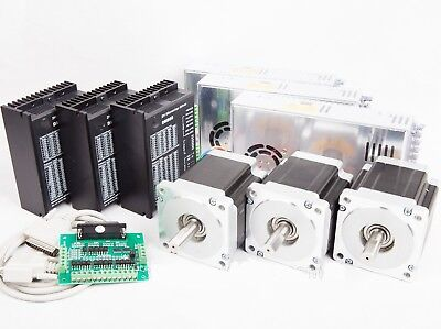 3axis Nema34 Stepper Motor Single 878oz 2a Driver Cnc Router Kit