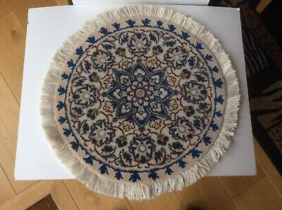 Vintage Small Hand Made Middle Eastern Rug, Table Top Centre Piece.