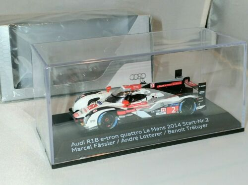 New 1//64 Spark Audi R18 E-Tron Quattro Joest #2 Winner Le Mans 2014 car model