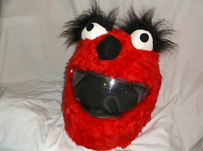 MOTORBIKE FUNNY HEEDS CRAZY CRASH HELMET COVERS MOTORCYCLE  COVER RED LASH ELMO  - Crazy Lashes