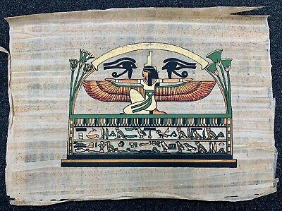 Genuine Papyrus Egyptian Pharaoh - Painted Handmade 47x34 CM - Certificate