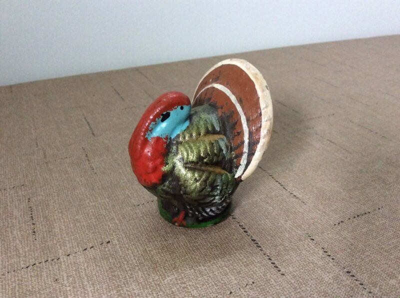 Antique Vintage paper mache  German Turkey candy container