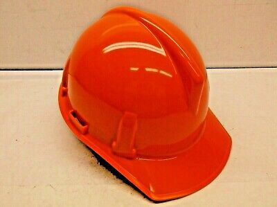 MSA Topgard Blaze Orange Hard Hat with Fas-Trac Suspension (H13)