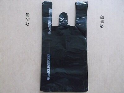 76 ct, PLASTIC SHOPPING BAGS , T SHIRT TYPE, GROCERY ,BLACK SMALL SIZE BAGS.