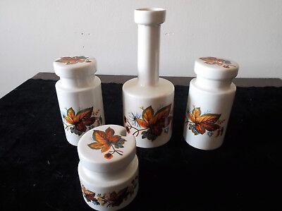 4 Piece Condiment Set Lord Nelson Pottery Plse read description
