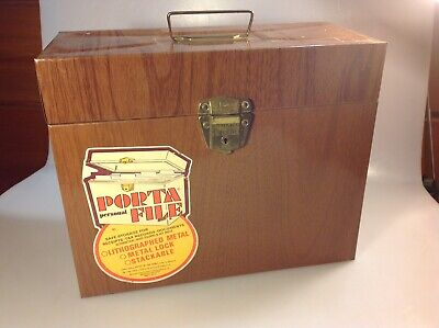Vintage Porta-file Metal Locking File Box W Key