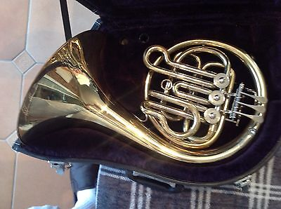 Bb Single Mini Horn with Case & Mouthpiece. Older Packer 161 Used Condition