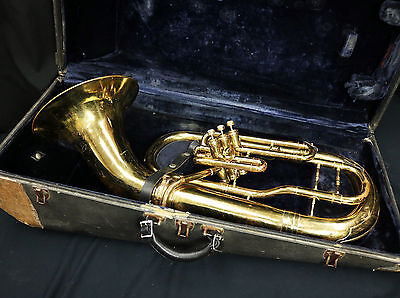 CONN EUPHONUIM 3 VALVE (Rough Brass Finish) Plays Well