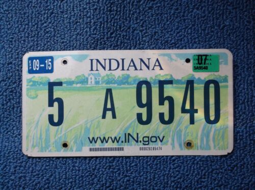 2007 Indiana License plate