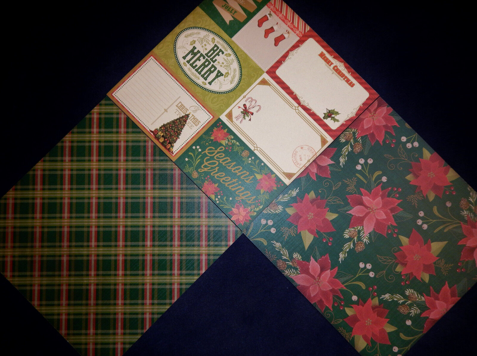 Scrapbook paper cardstock - 12x12 Scrapbook Paper Cardstock Old Olde Time Christmas Holiday Classic 24 Lot 2 2 Of 9
