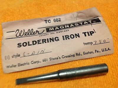 Weller Tc 602 Soldering Iron Tip Style 6din