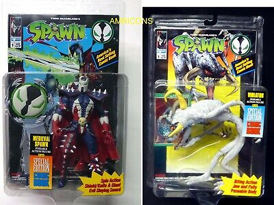 Medieval Spawn and Violator figure lot Series 1 McFarlane Toys New 1994 Amricons