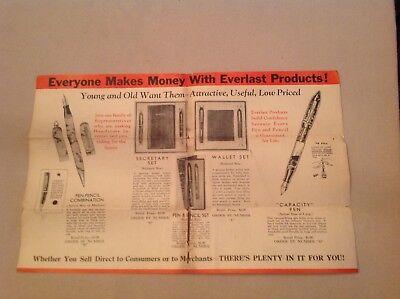 Vintage Everlast Pen Salesmen Make Big Incomes Kit
