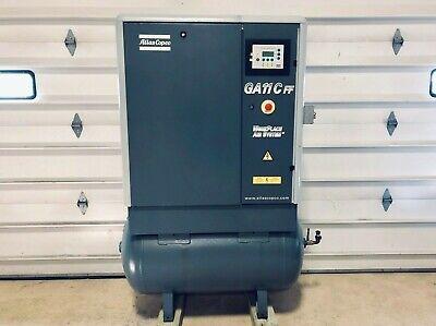 15 Hp Air Compressor Rotary Screw Atlas Copco Ga11 C Ff Air Dryer Tank Cfm Psi