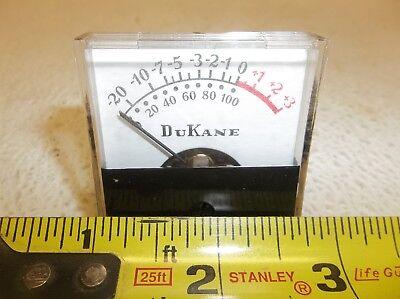 Dukane Audio Analog Vu Meter Model 485-1504