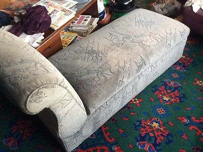Antique Ottoman Reclining Sofa Chaise Longue Storage Box