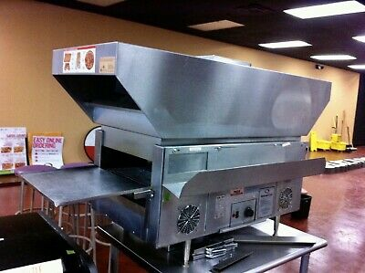 Star Holman Qt14br Commercial Conveyor Warmertoaster Oven Wrolling Ss Table