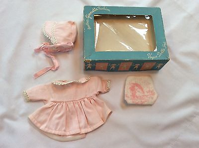 1950's Pink Ginnette Coat Diaper & Bonnet With Box Nice!