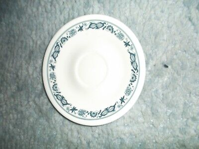 CORELLE OLD TOWN BLUE ONION SAUCERS ABOUT 6 1/4 INCHES ACROSS