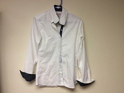 Ladies White RJ Classic Prestige Collection Hunt Show Shirt SZ 36 EUC Prestige Collection Show Shirt