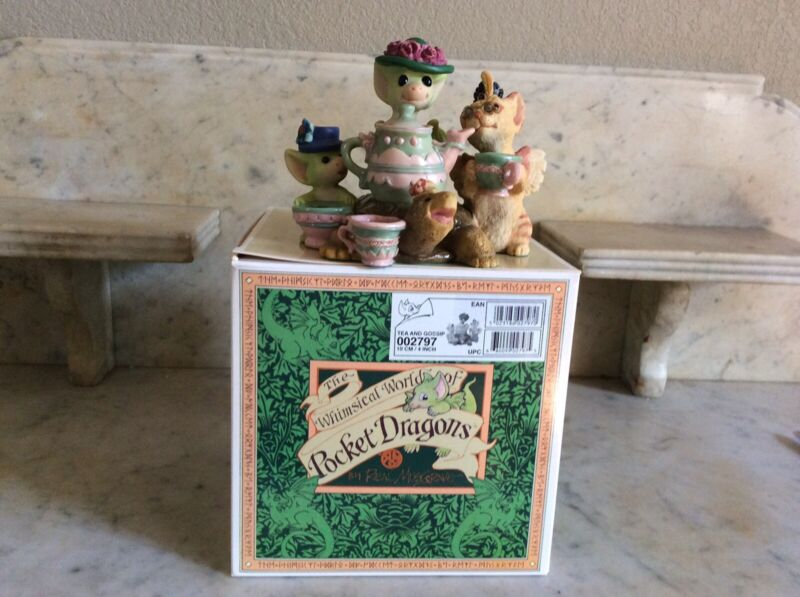 Pocket Dragons: Tea And Gossip: Limited edition: mint condition