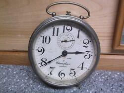 Vintage Alarm Clock SIMPLEX automatic eight day