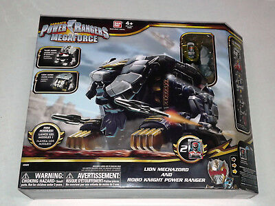 Power Rangers Super Megaforce Lion Mechazord and Robo Knight New in Box VHTF