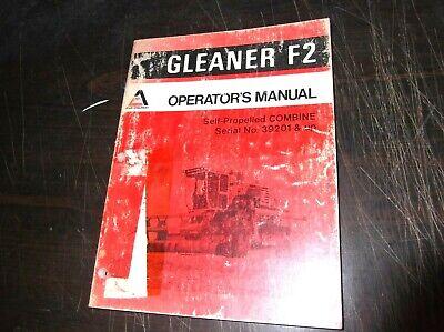 Original Allis Chalmers Gleaner F2 Self Propelled Combine Operators Manual