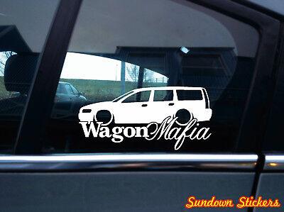 Volvo V70t5 - WAGON MAFIA sticker aufkleber - for Volvo V70 T5 station wagon 2nd gen kombi