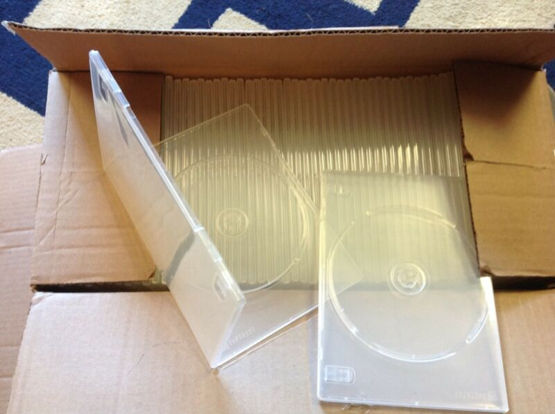 Lot Of 60 Slim Clear Single DVD Storage Cases, New