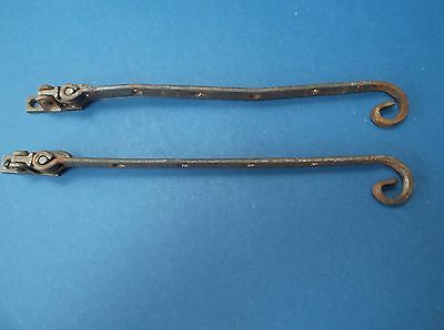 Pair of Metal Window Catches Deco design used, in Fairly good condition