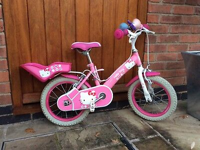"Girls Hello Kitty Bike 14"" wheels, with Princess Helmet Included. Derby area"