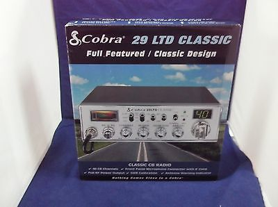 (BRAND NEW COBRA 29 LTD CLASSIC CB RADIO PRO TUNED,MOFSET,SWING KIT)