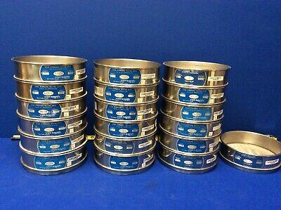 Lot Of 19 Vwr Stainless Steel 8 Us Standard Testing Sieves