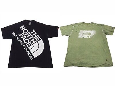 The North Face Graphic Tee Mens Large Short Sleeve T-Shirt Lot of 2 Black Green